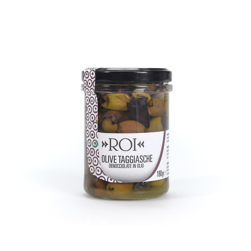 Olive Taggiasche denocciolate in olio – 180g