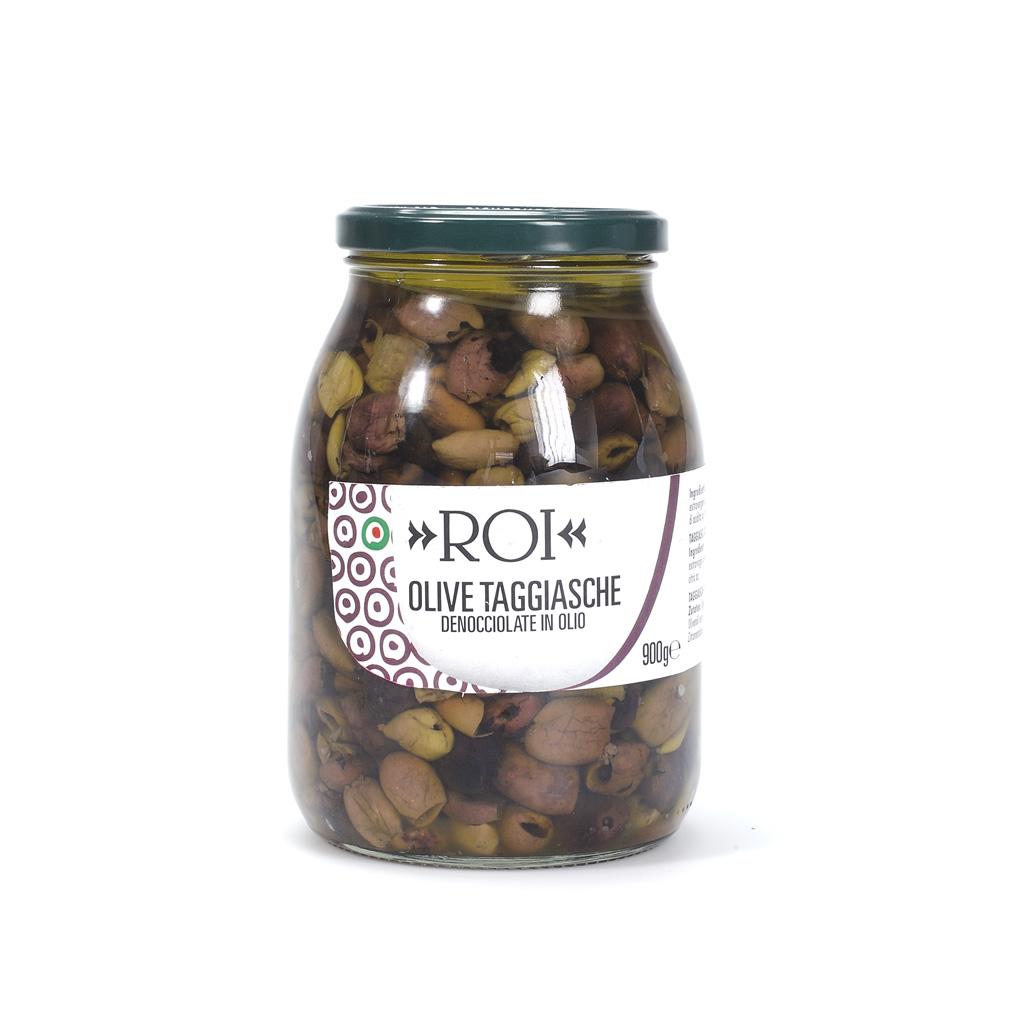 Olive taggiasche denocciolate in olio 900g