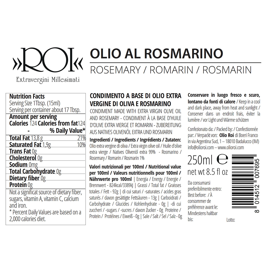 Olio al Rosmarino – 250ml